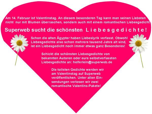 Liebesgedichte Zum Valentinstag Superweb Community Blog